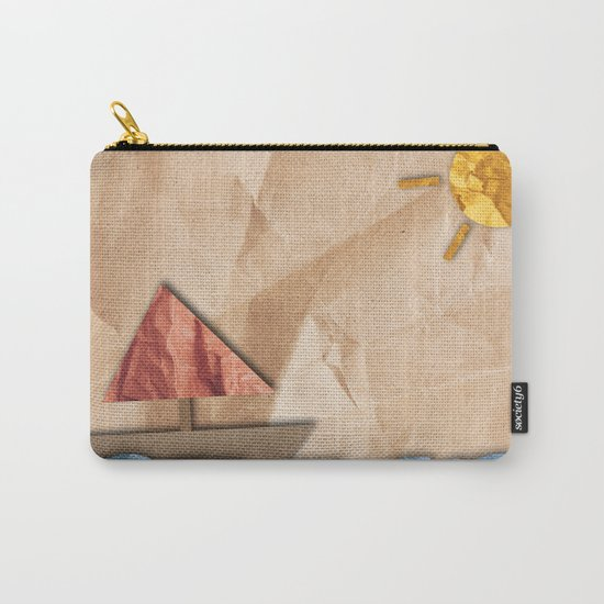 Paper Sea Carry-All Pouch