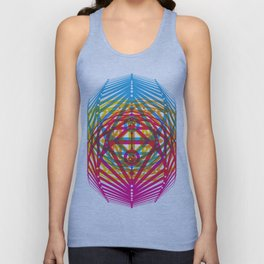 4 Corners of Abundance (wide) Unisex Tank Top