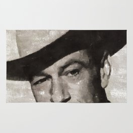 Gary Cooper, Hollywood Legend Rug