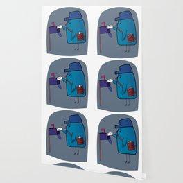 Cute Postman Bird Mail Carrier Wallpaper