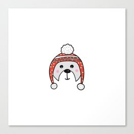 Christmas cute bear Canvas Print