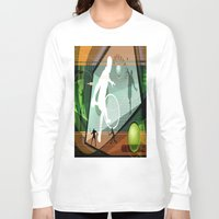 tennis Long Sleeve T-shirts featuring Tennis by Robin Curtiss