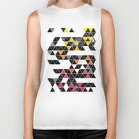 gradient Biker Tanks featuring Gradient Space by Jorge Lopez
