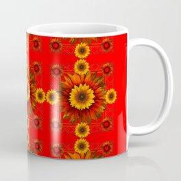RED & YELLOW SUNFLOWER PATTERN Coffee Mug