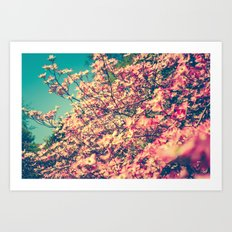 Her Favorite Color was Pink Flowers Art Print