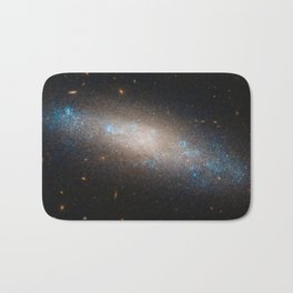 Celestial Sequins Photograph of Spiral Galaxy NGC 4455 - Coma Berenices (Berenice's Hair) Bath Mat