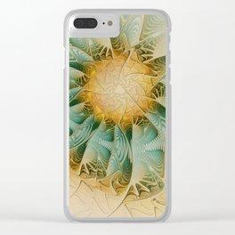 Fractal Fantasy Clear iPhone Case