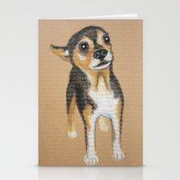 chihuahua Stationery Cards featuring Chihuahua by PaperTigress