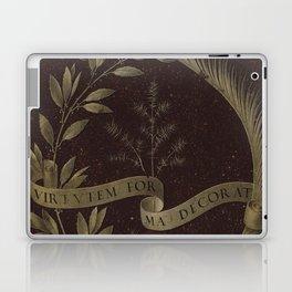 "Leonardo Da Vinci ""Wreath of Laurel, Palm, and Juniper with a Scroll inscribed Virtutem Forma Decor"" Laptop & iPad Skin"