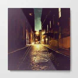 TriBeCa Night Alley Metal Print