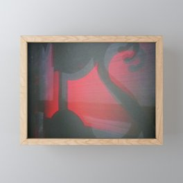 TRANSITORY RED LIGHT SHADOW ABSTRACT Framed Mini Art Print