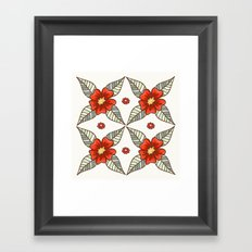 Guild of flowers and leaves Framed Art Print