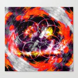 Orange Aura Canvas Print