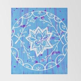 Calathea Mandala Throw Blanket