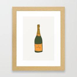 Champagne Bottle Pattern Framed Art Print