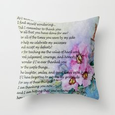 A Mother's Day Poem Throw Pillow