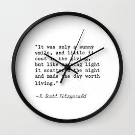 F. Scott Fitzgerald quote 6 Wall Clock