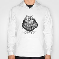 dave grohl Hoodies featuring Owl Ball by Dave Mottram