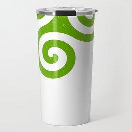 Triskele | Off Axis - Celtic Triad or Trinity Symbol Travel Mug