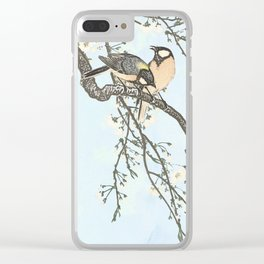 Birds and blossoms Clear iPhone Case