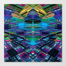 Cyber dimension Canvas Print