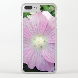 Pink Musk Mallow Clear iPhone Case