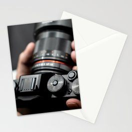 Professional Photographer taking a picture Stationery Cards