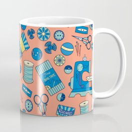 Buttons and Scissors and Pins, Oh My! Coffee Mug
