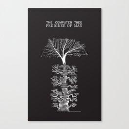 The Computer Tree Pedigree of Man Canvas Print