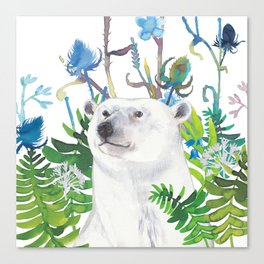 fern bear Canvas Print