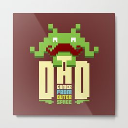 Gamer dad from outer space Metal Print