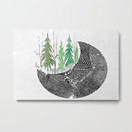 Our fingerprint on earth Metal Print