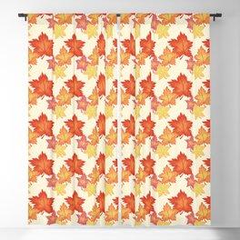 Autumn Pattern Design Blackout Curtain