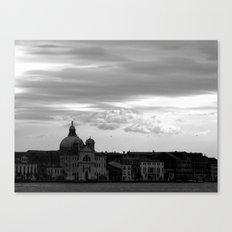Giudecca at sundown in black and white Canvas Print