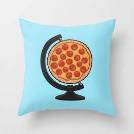 Pizza Makes the World Go Round Throw Pillow