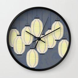 Lanterns 2 Wall Clock