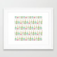 champagne Framed Art Prints featuring Champagne by Abby Galloway
