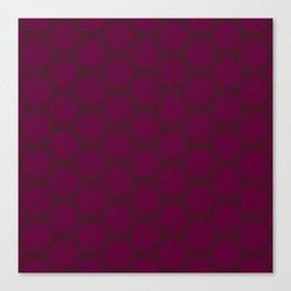 Dots Pattern 5 - Sangria, Boysenberry Canvas Print