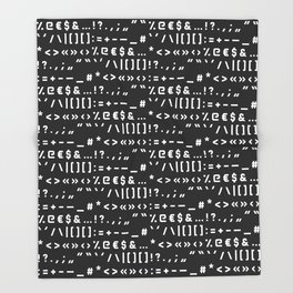Typography Special Characters Pattern #2 Throw Blanket