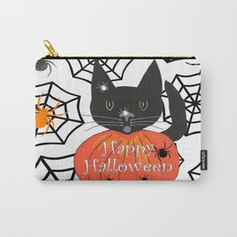 Happy Halloween Black Cat Carry-All Pouch