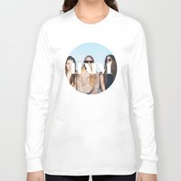 haim Long Sleeve T-shirts featuring HAIM round photo logo by Elianne