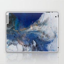 Abstract blue marble Laptop & iPad Skin