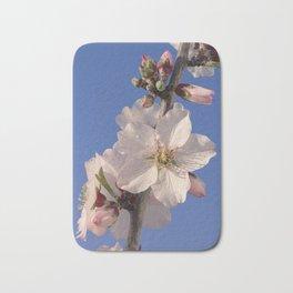 Almond blossom branch Bath Mat