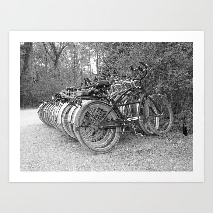 Bikes in the Biergarten Art Print