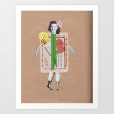 Miss Textiles Art Print