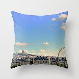 Parisian Skyline Throw Pillow