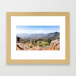 Pico de las Nieves Framed Art Print
