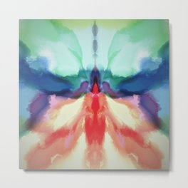 Rainbow Butterfly Abstract Metal Print
