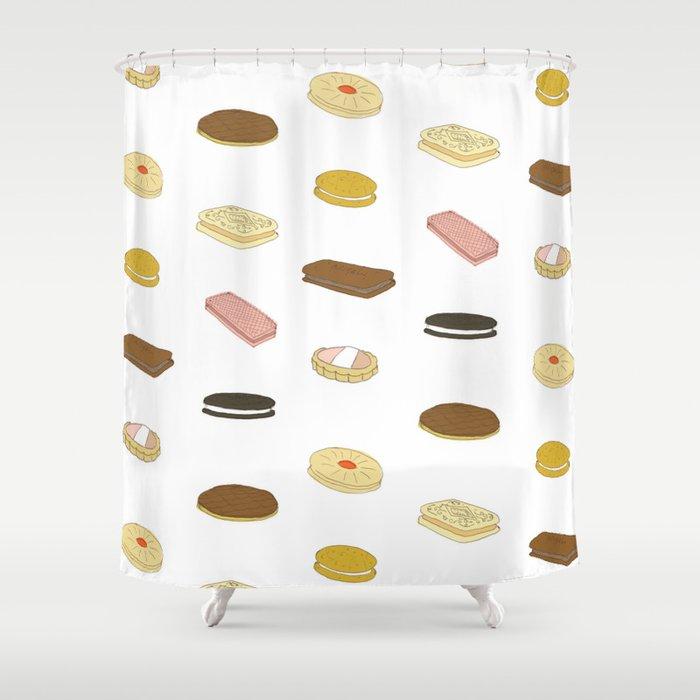 biscui - biscuit pattern Shower Curtain