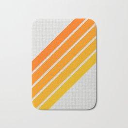 Orange Color Drift Bath Mat